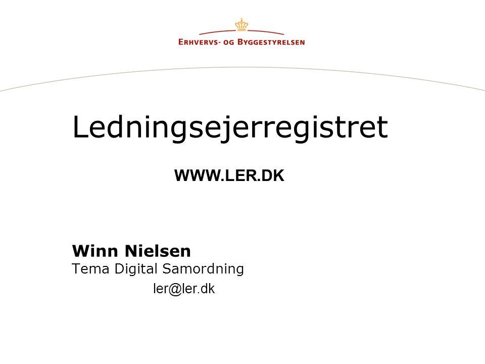 Ledningsejerregistret Winn Nielsen Tema Digital Samordning