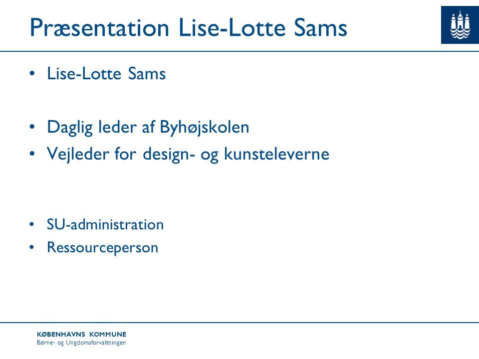 Præsentation Lise-Lotte Sams