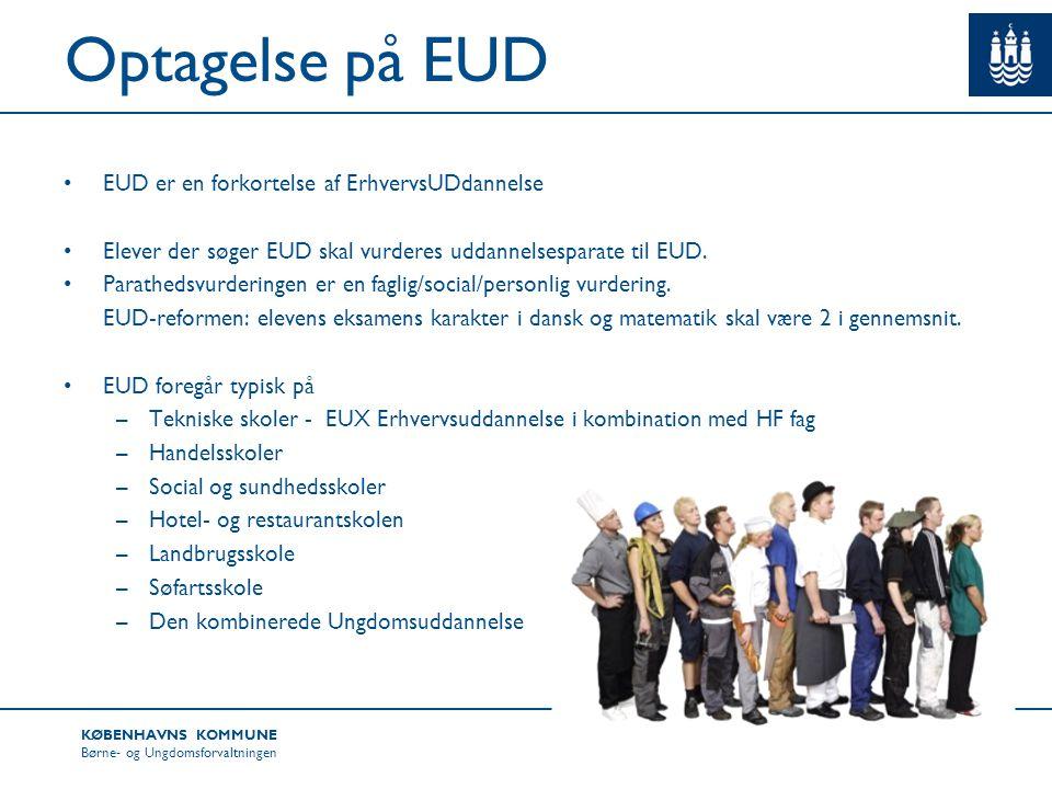 Optagelse på EUD EUD er en forkortelse af ErhvervsUDdannelse