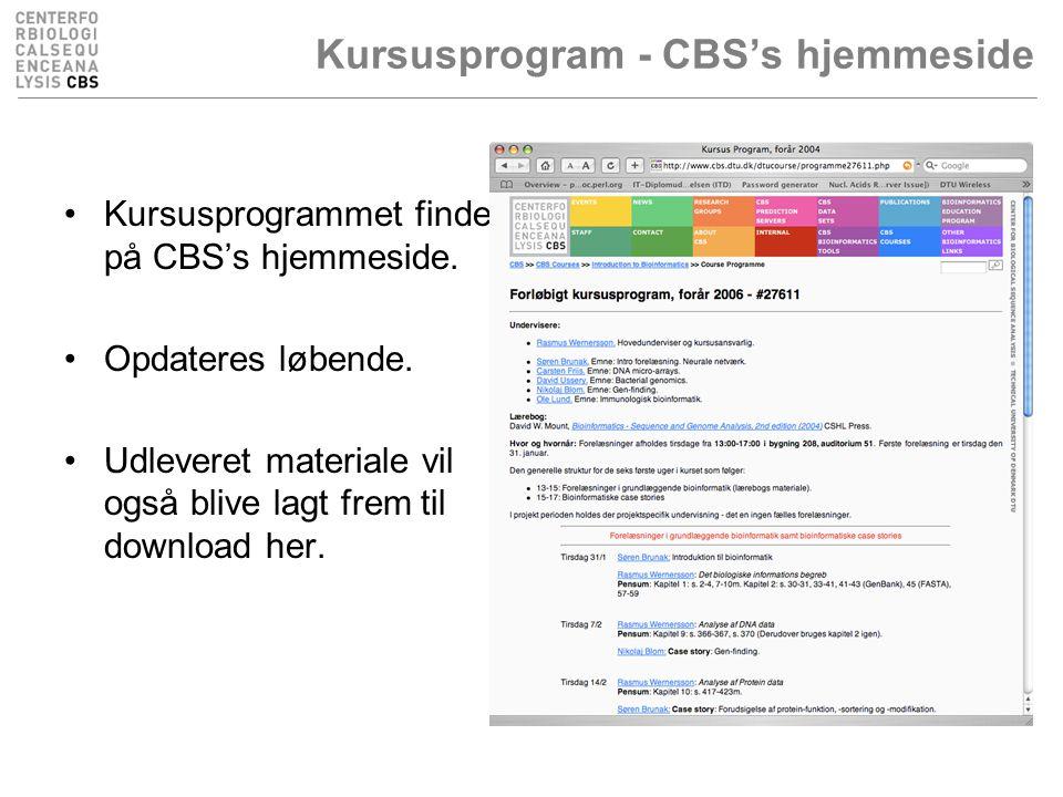 Kursusprogram - CBS's hjemmeside