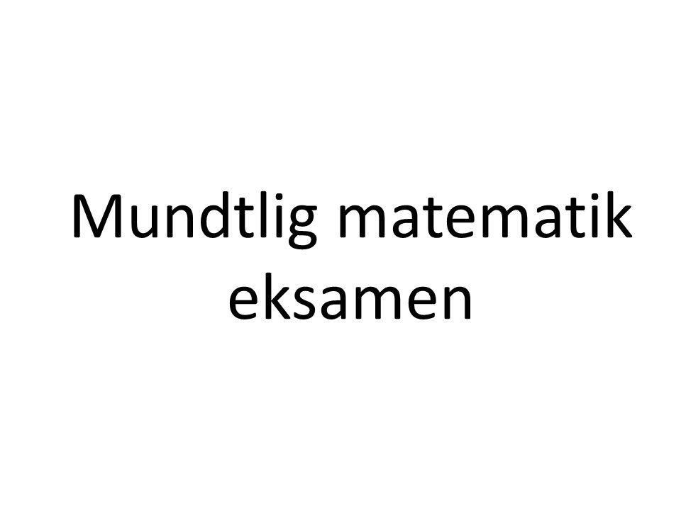 Mundtlig matematik eksamen
