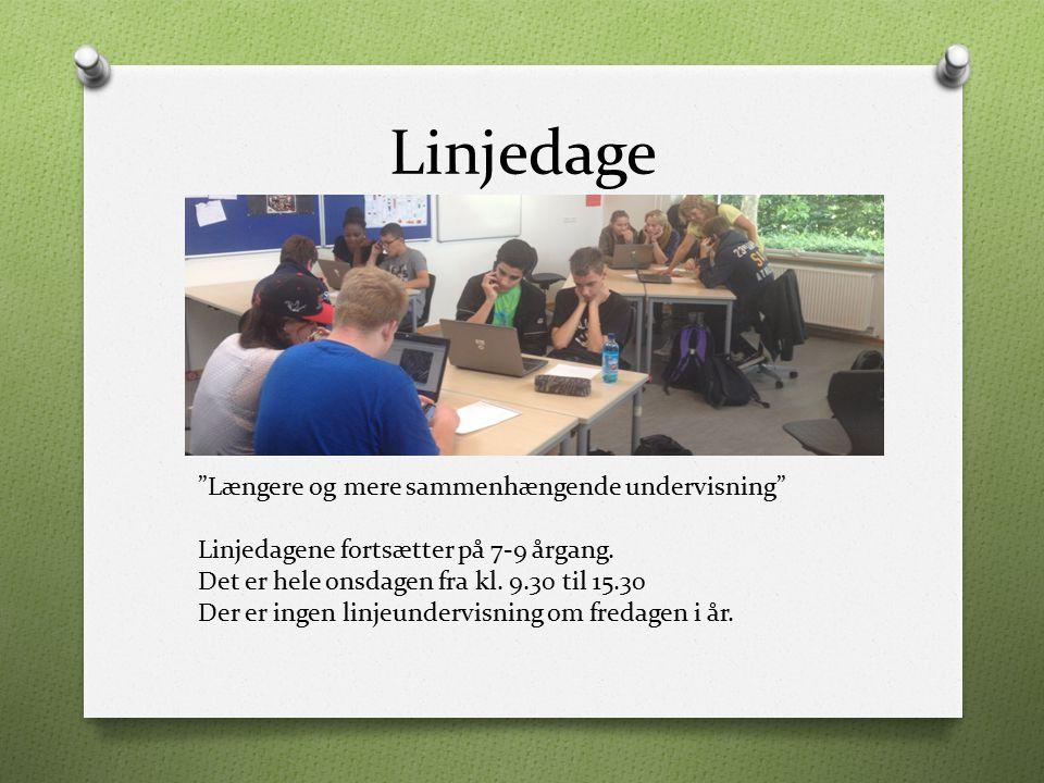 Linjedage Længere og mere sammenhængende undervisning