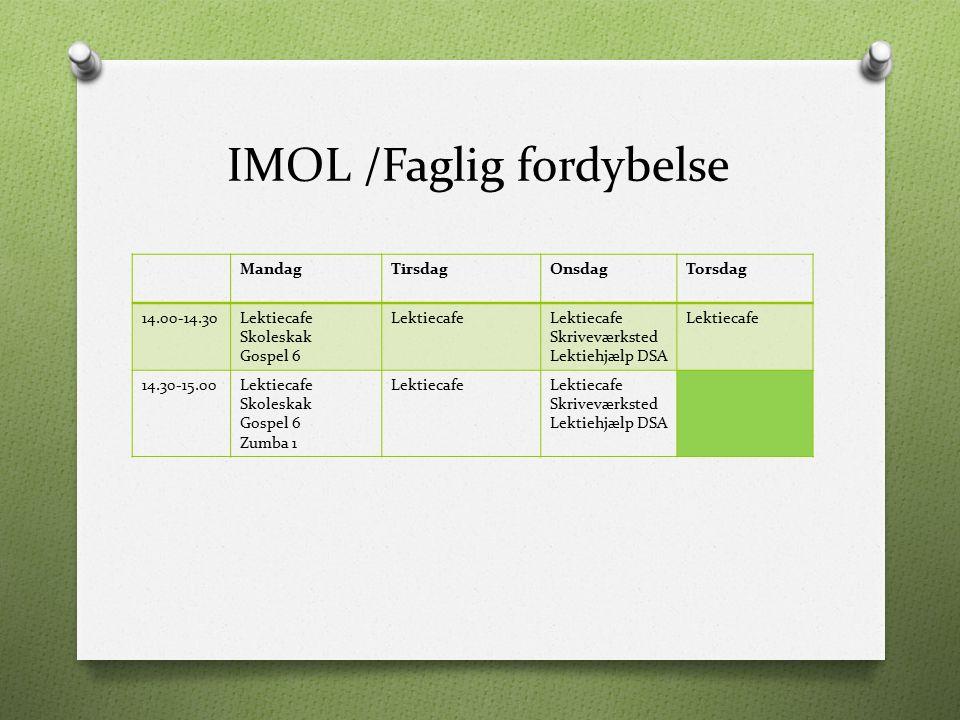 IMOL /Faglig fordybelse