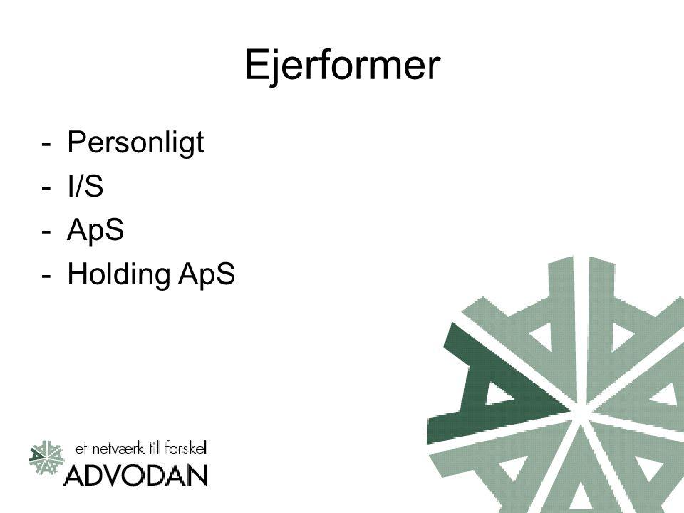Ejerformer Personligt I/S ApS Holding ApS