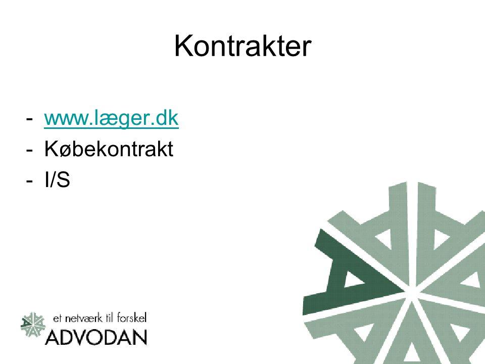Kontrakter www.læger.dk Købekontrakt I/S