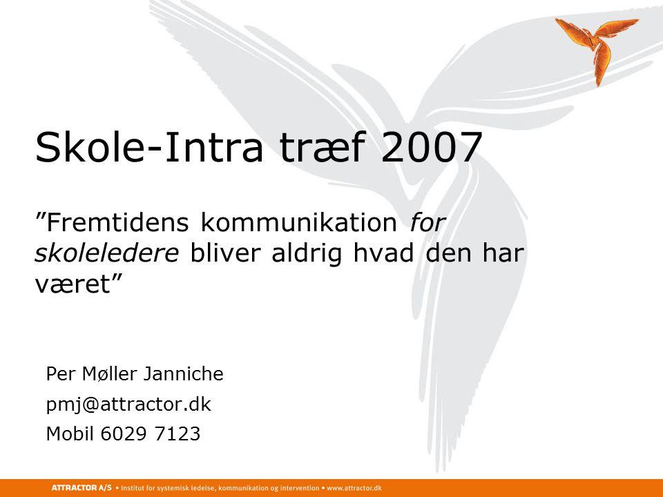 ... har været Per Møller Janniche. pmj@attractor.dk. Mobil 6029 7123