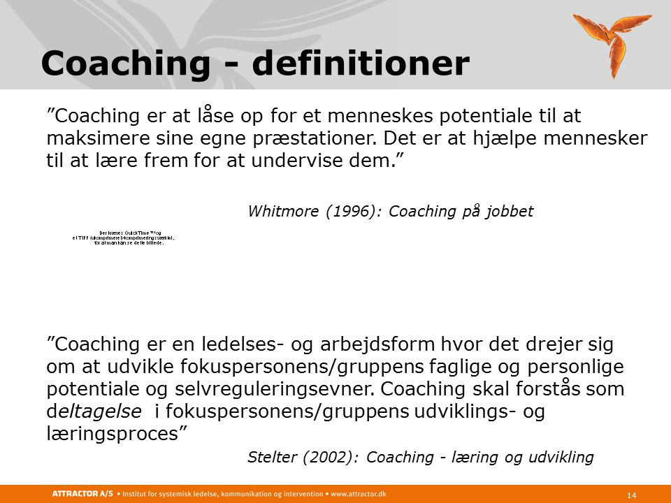 Coaching - definitioner