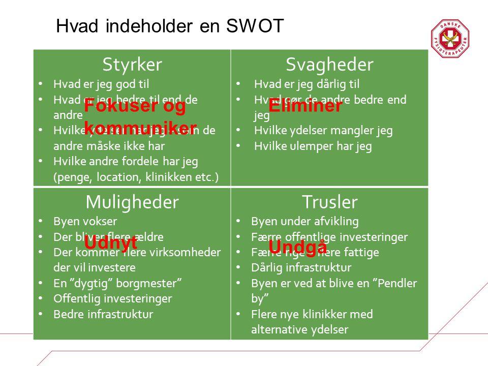 Hvad indeholder en SWOT