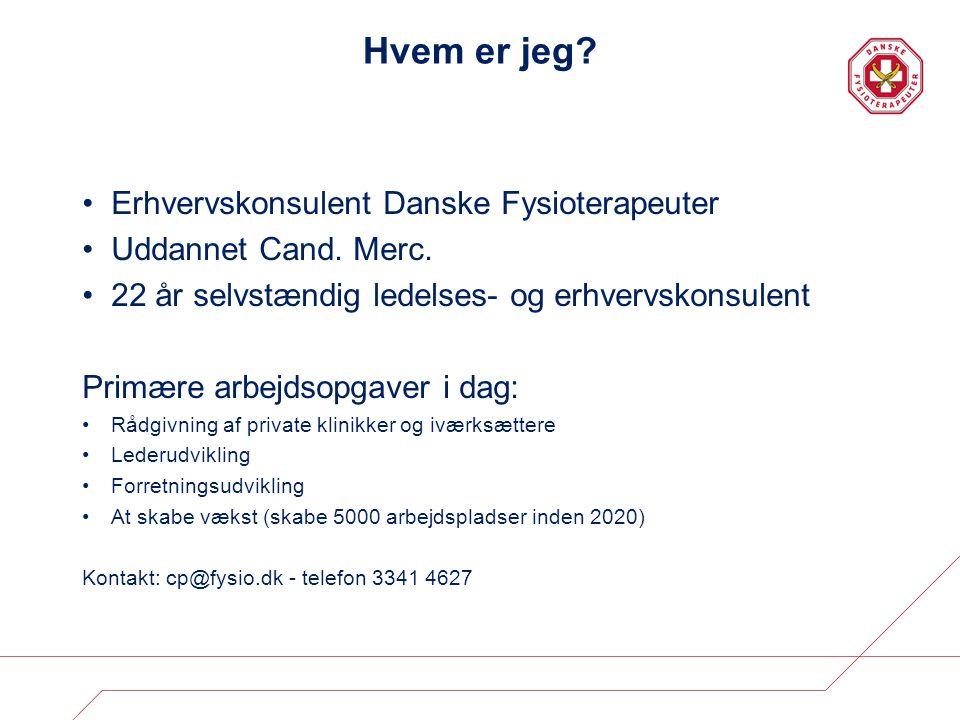Hvem er jeg Erhvervskonsulent Danske Fysioterapeuter