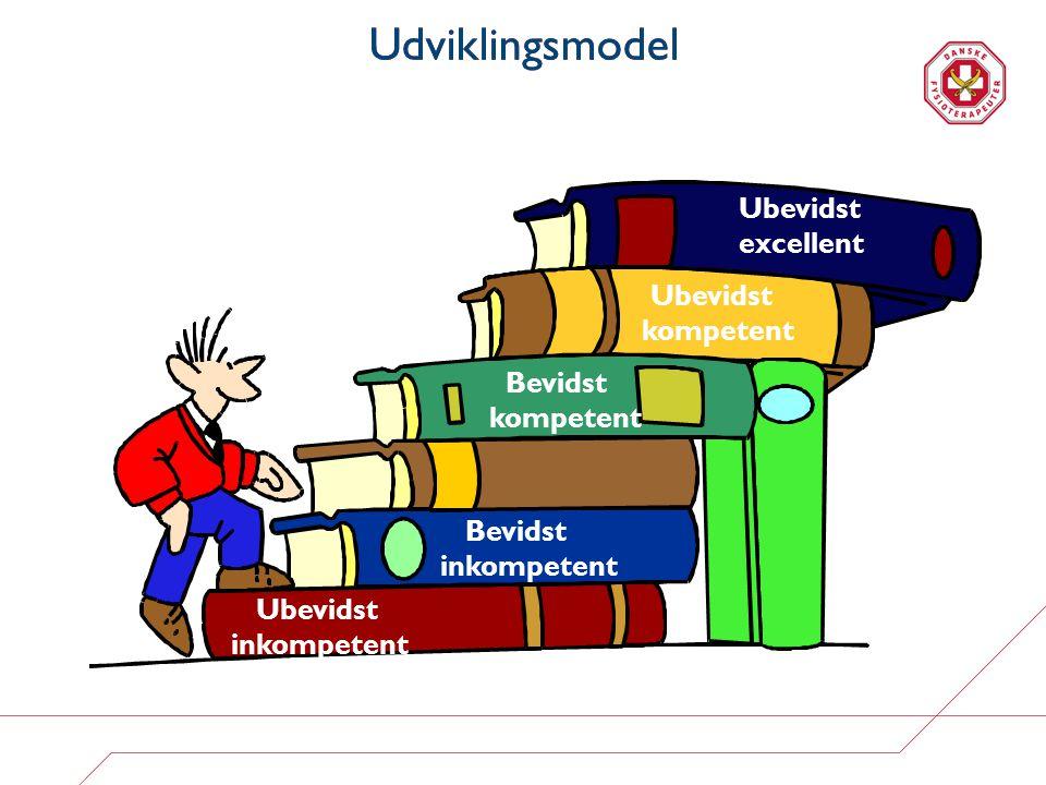 Udviklingsmodel Ubevidst excellent Ubevidst kompetent Bevidst