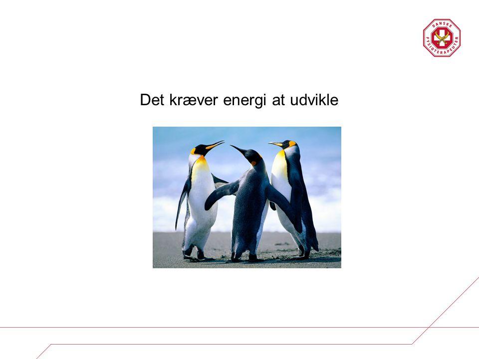 Det kræver energi at udvikle