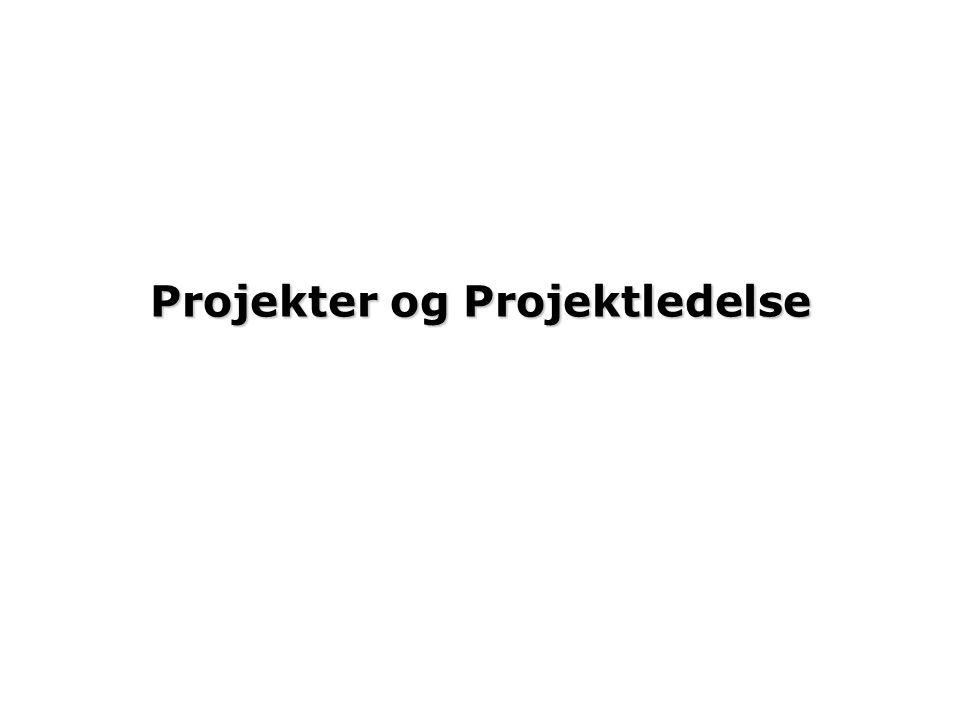 Projekter og Projektledelse