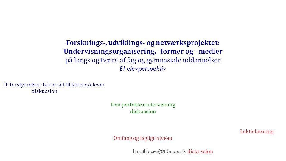 Forsknings-, udviklings- og netværksprojektet: