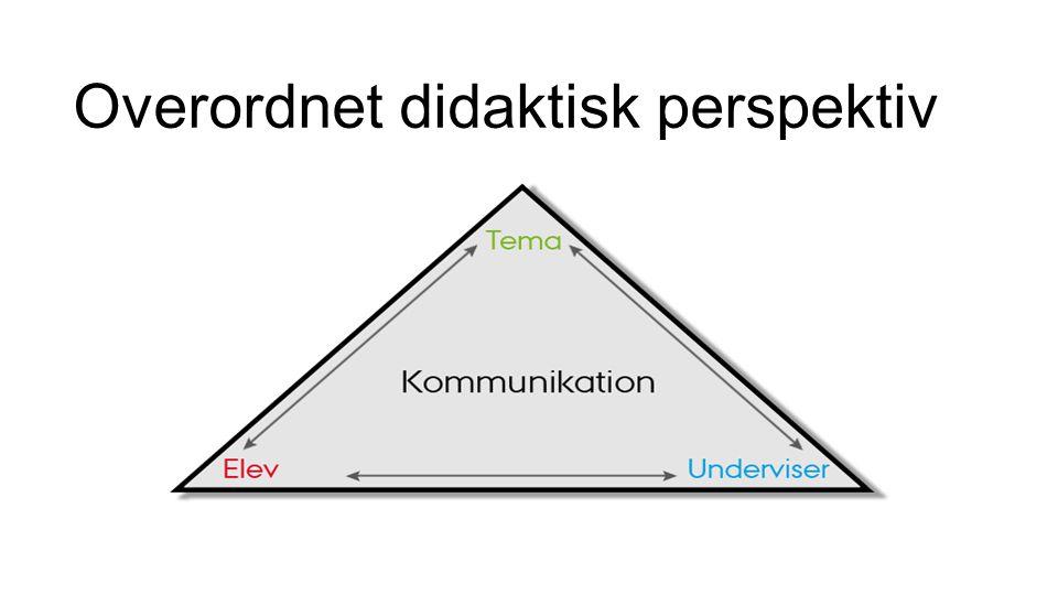 Overordnet didaktisk perspektiv
