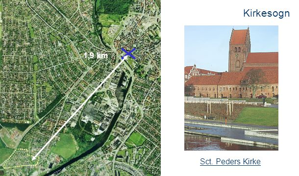 Kirkesogn 1,9 km 2,5 km Sct. Peders Kirke