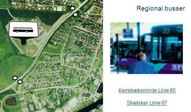 Regional busser Karrebæksminde Linie 80 Skælskør Linie 87