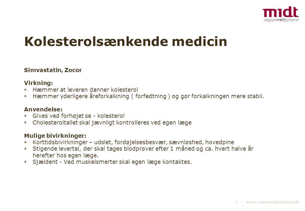 Kolesterolsænkende medicin