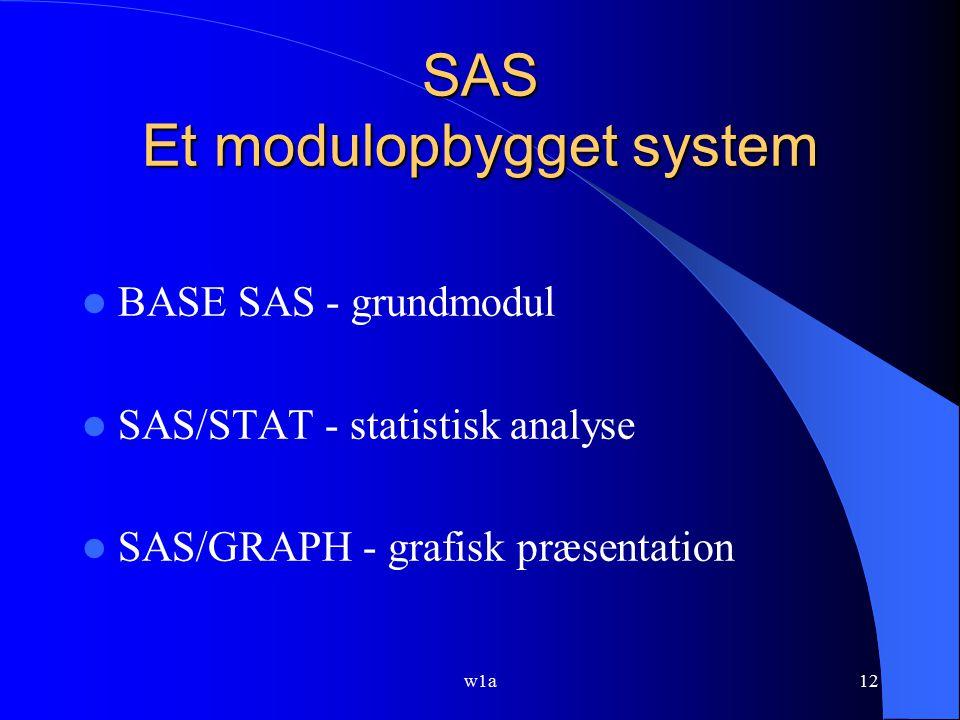 SAS Et modulopbygget system