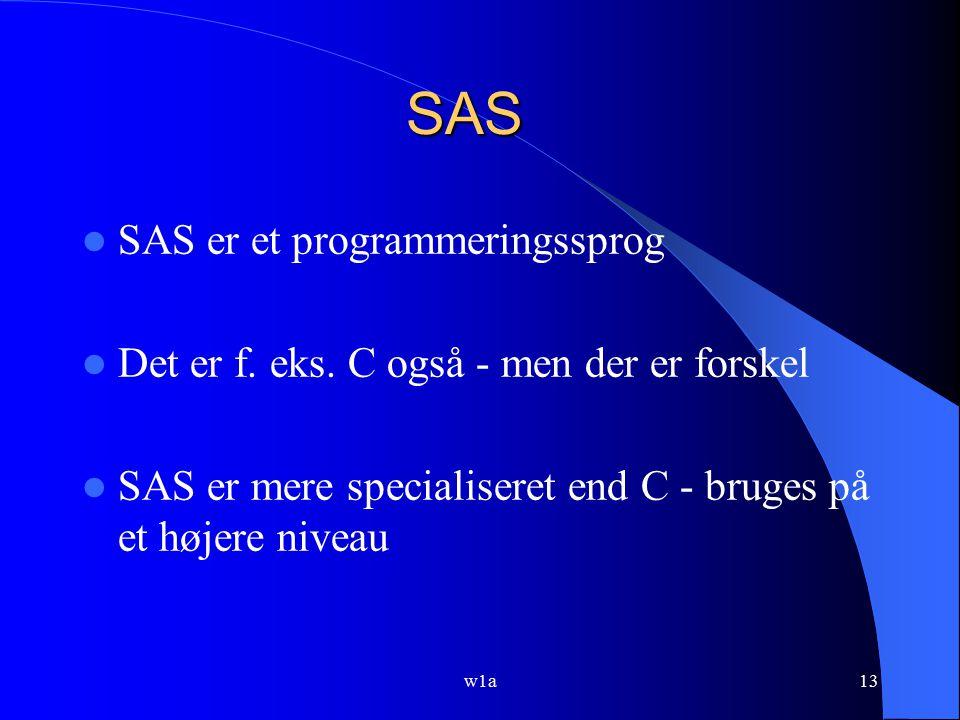 SAS SAS er et programmeringssprog
