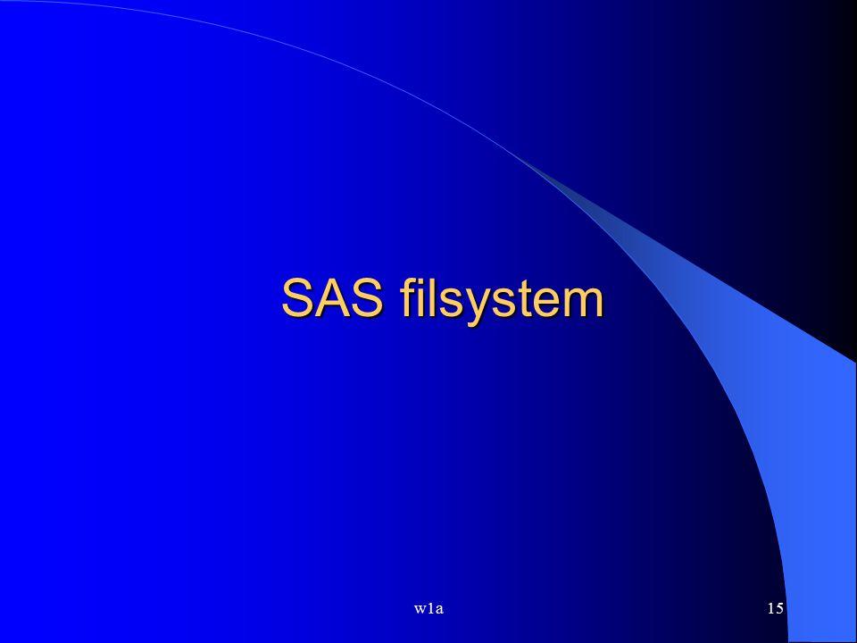 SAS filsystem w1a