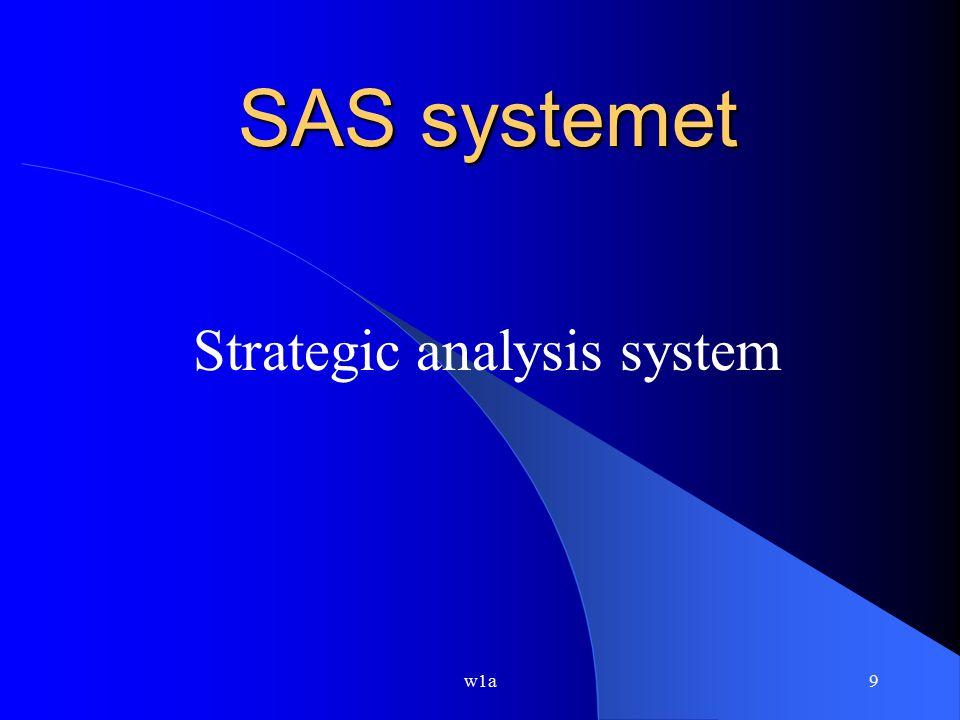 Strategic analysis system