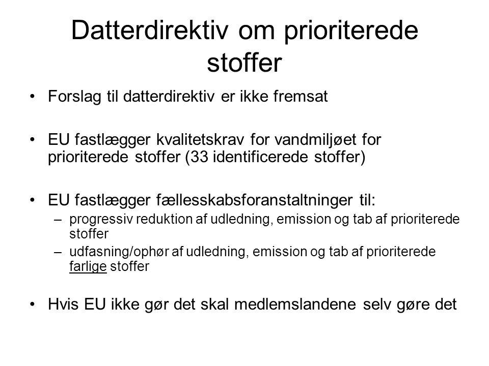Datterdirektiv om prioriterede stoffer