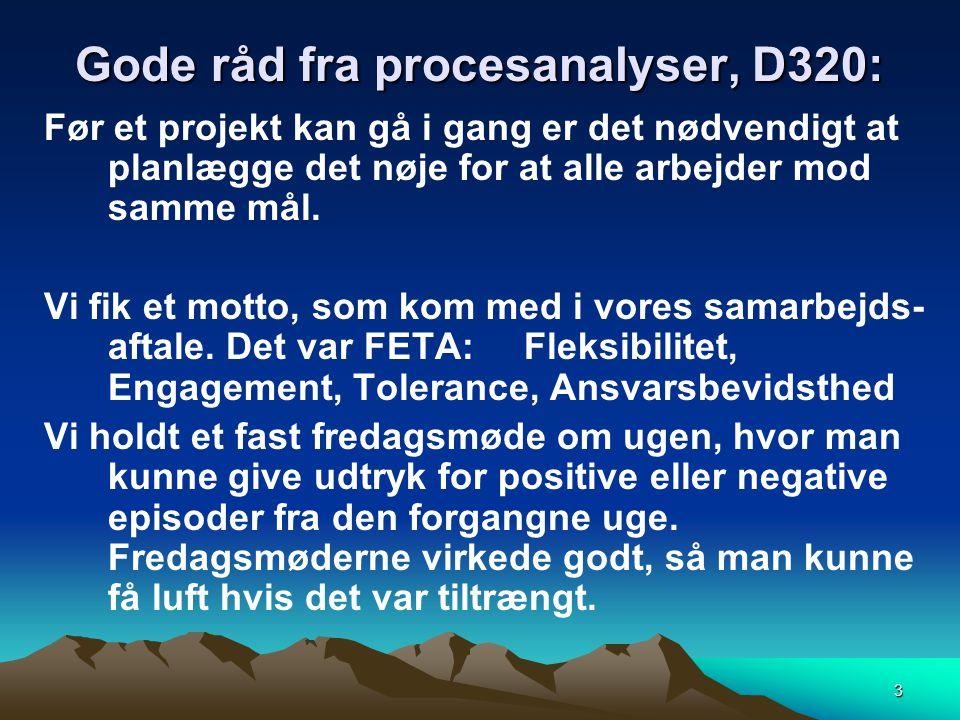 Gode råd fra procesanalyser, D320: