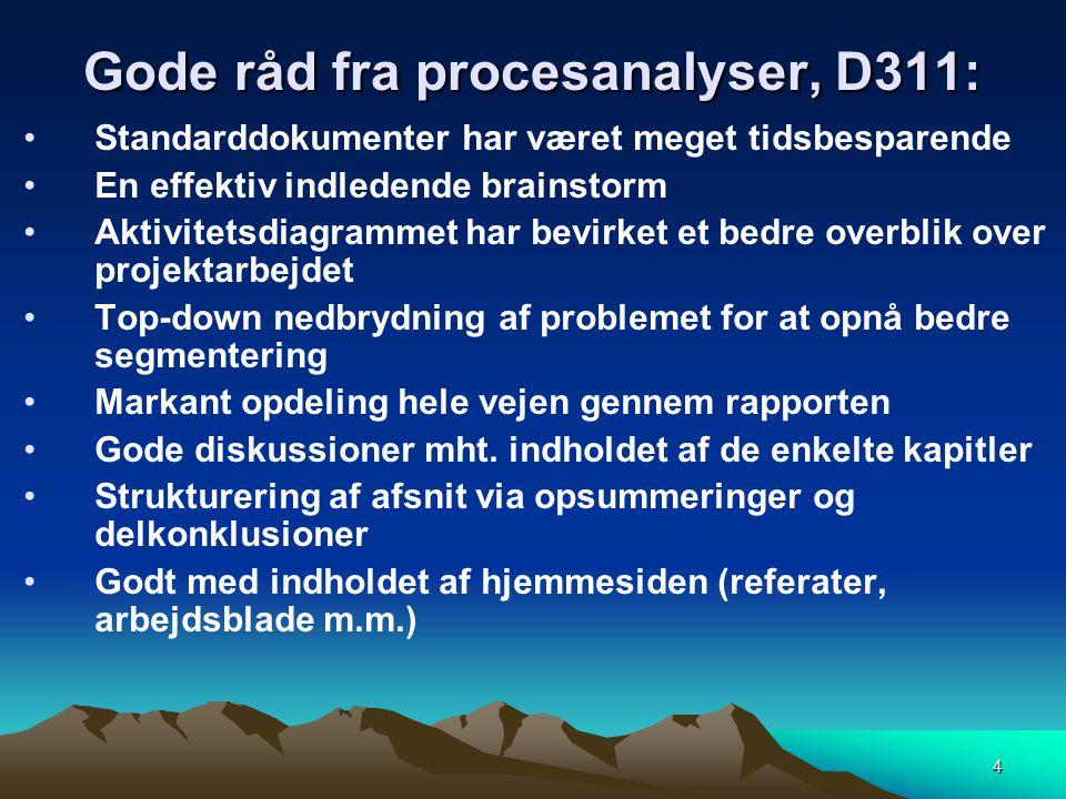 Gode råd fra procesanalyser, D311: