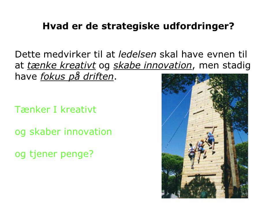 Hvad er de strategiske udfordringer