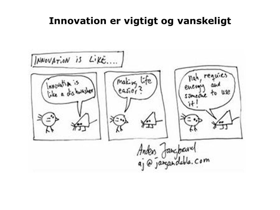 Innovation er vigtigt og vanskeligt