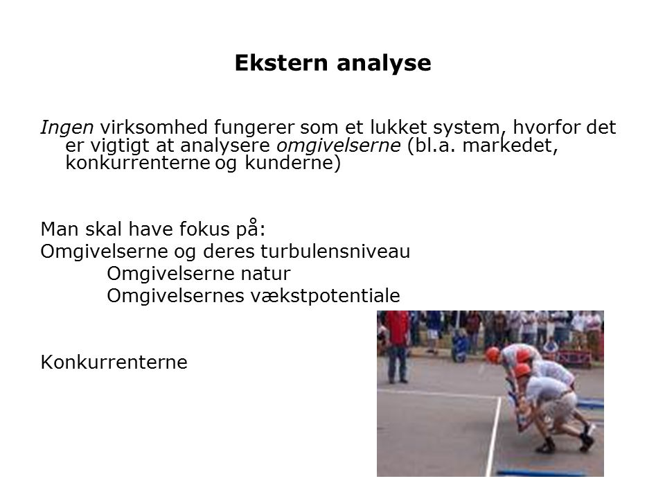 Ekstern analyse