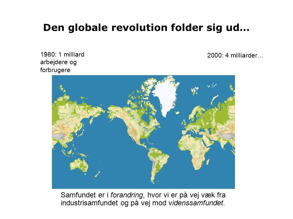 Den globale revolution folder sig ud…