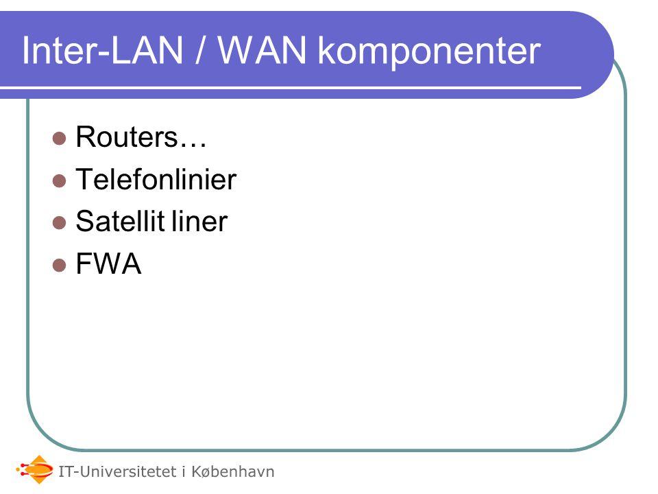 Inter-LAN / WAN komponenter