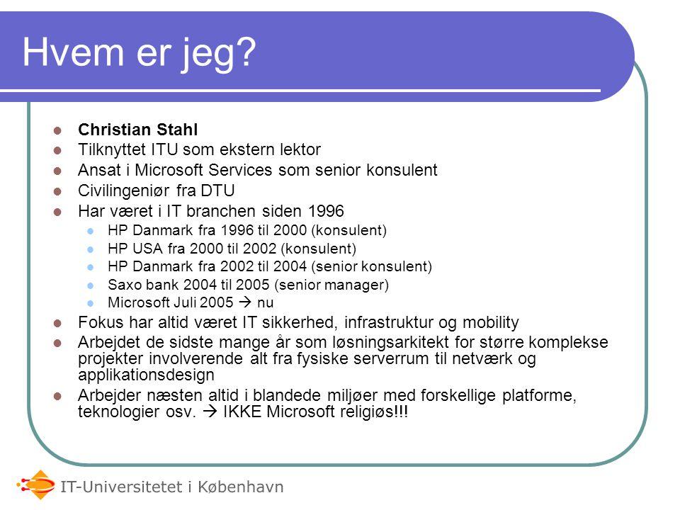 Hvem er jeg Christian Stahl Tilknyttet ITU som ekstern lektor