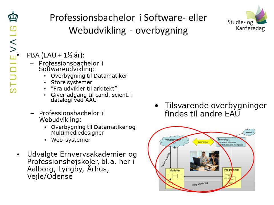 Professionsbachelor i Software- eller Webudvikling - overbygning