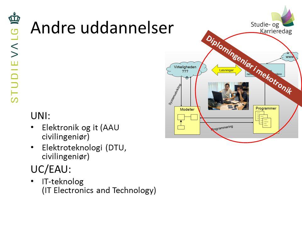 Andre uddannelser UC/EAU: UNI: Elektronik og it (AAU civilingeniør)