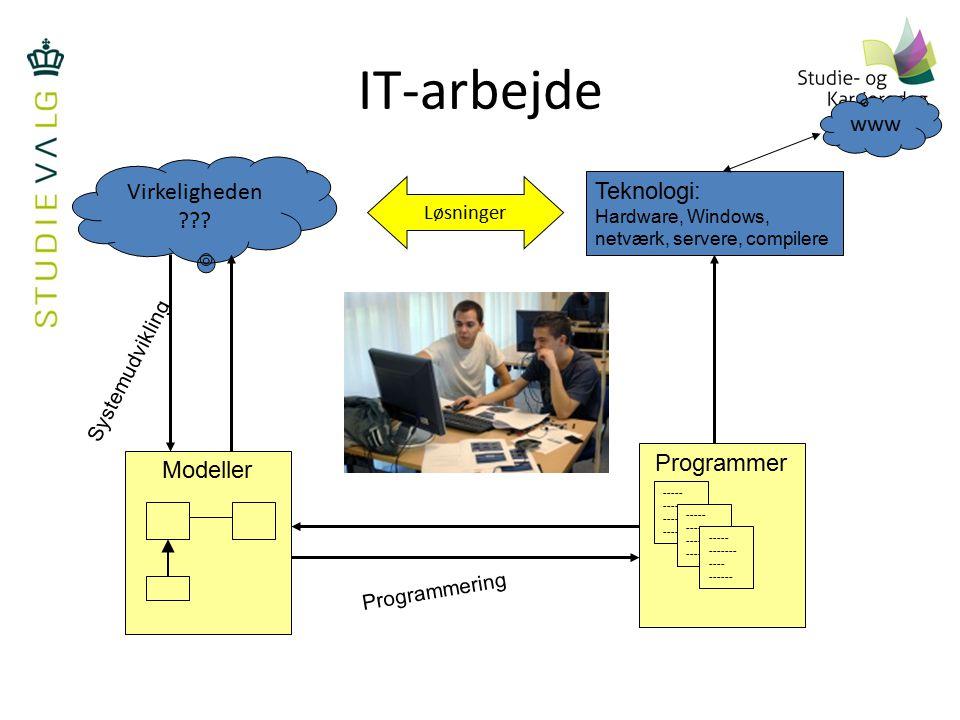 IT-arbejde www Virkeligheden Teknologi: Programmer Modeller