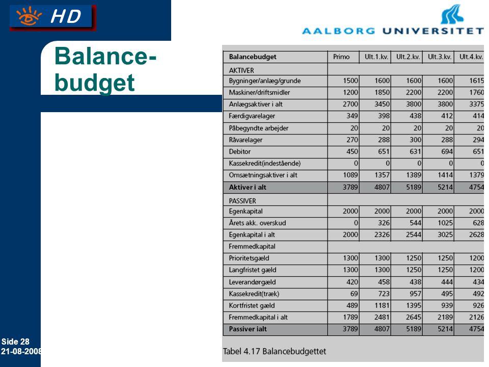 Balance-budget