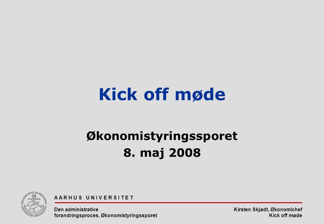 Økonomistyringssporet 8. maj 2008