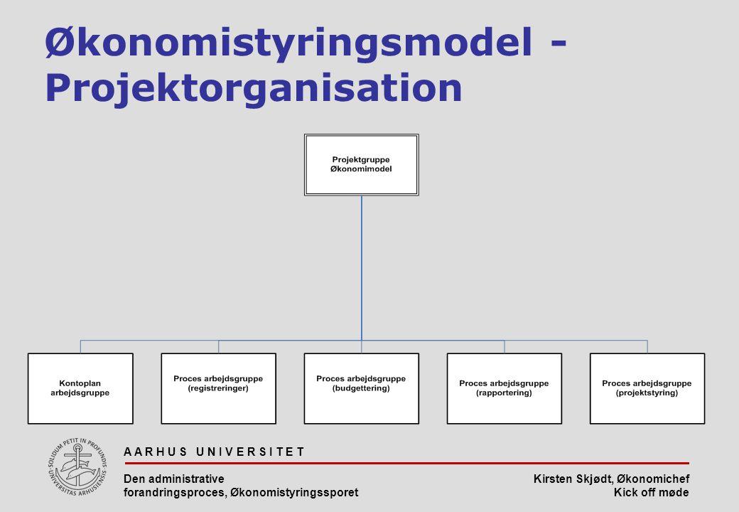 Økonomistyringsmodel - Projektorganisation