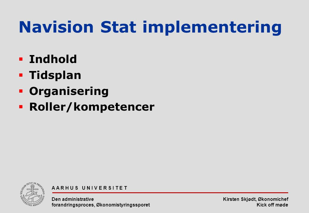 Navision Stat implementering