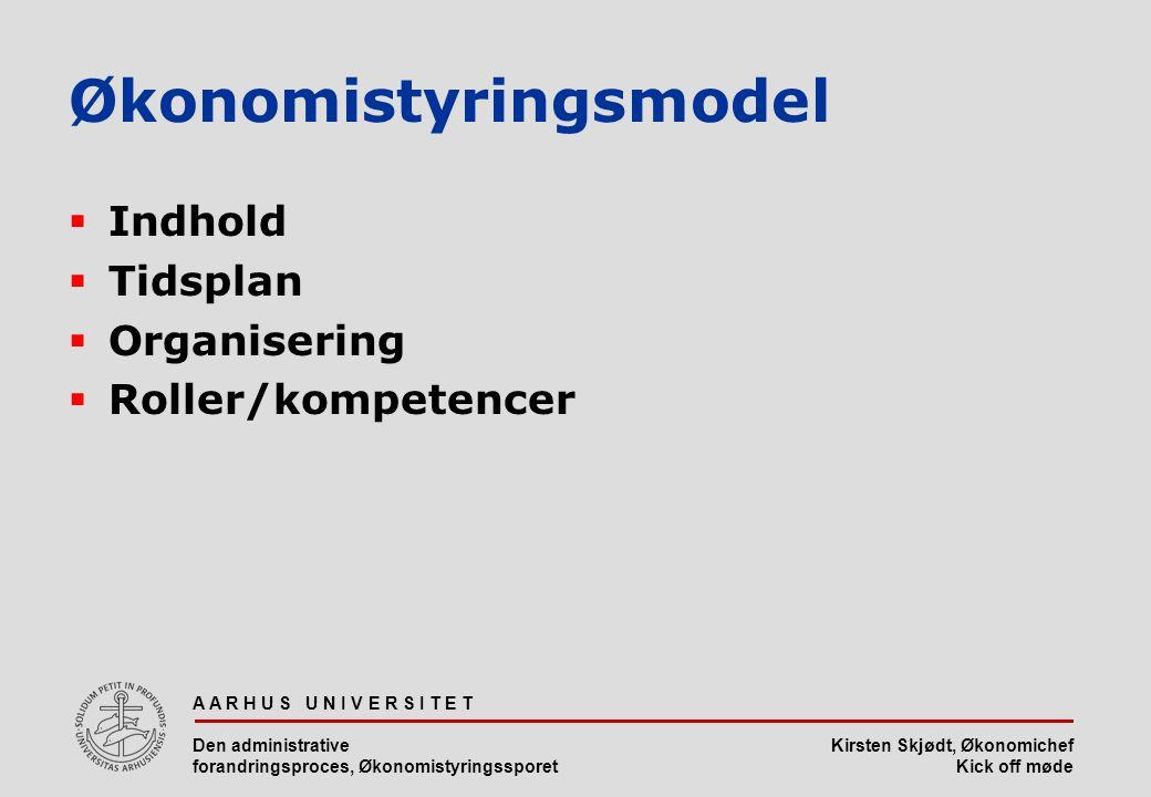 Økonomistyringsmodel