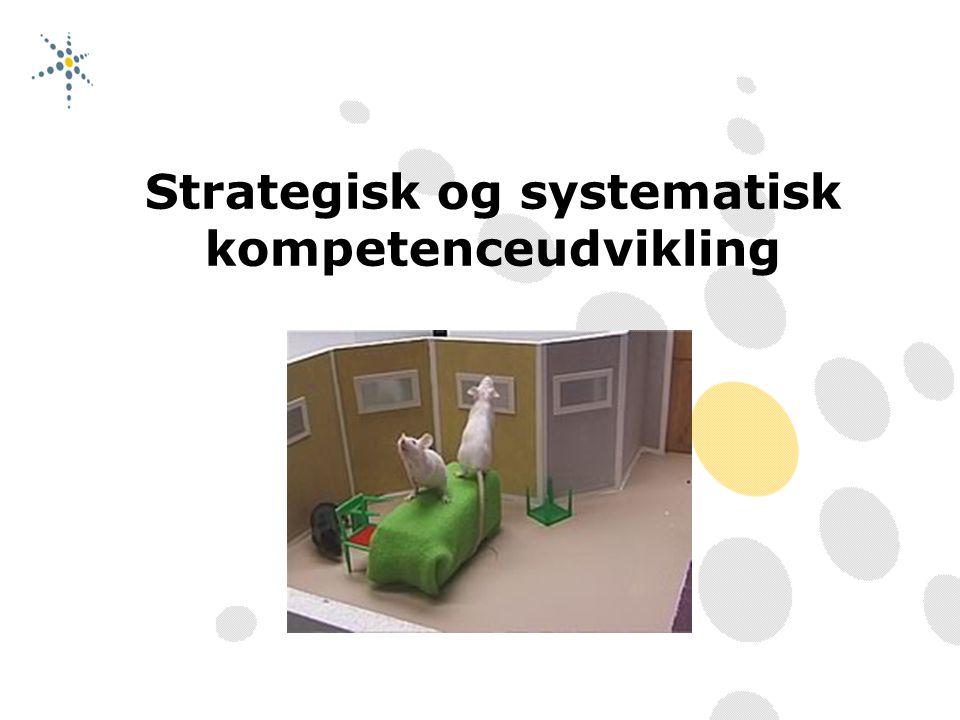 Strategisk og systematisk kompetenceudvikling