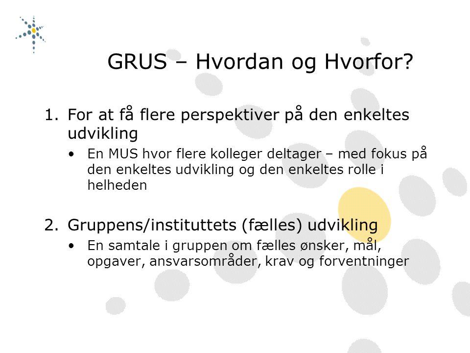 GRUS – Hvordan og Hvorfor