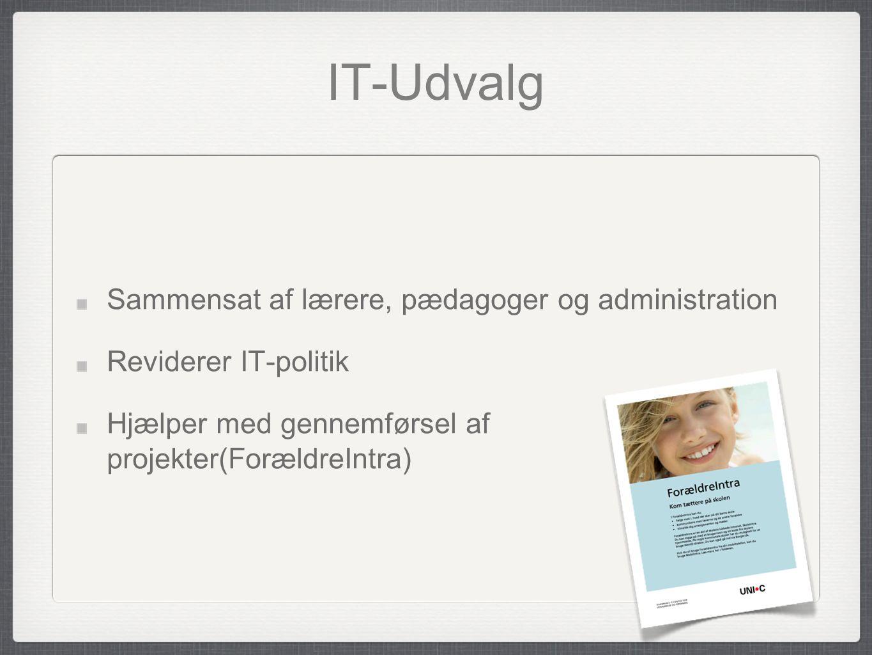 IT-Udvalg Sammensat af lærere, pædagoger og administration