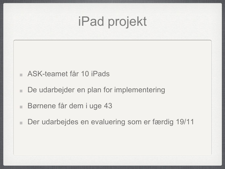 iPad projekt ASK-teamet får 10 iPads