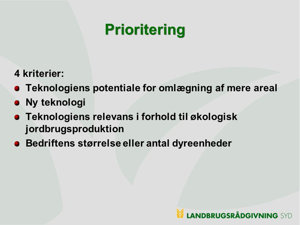Prioritering 4 kriterier: