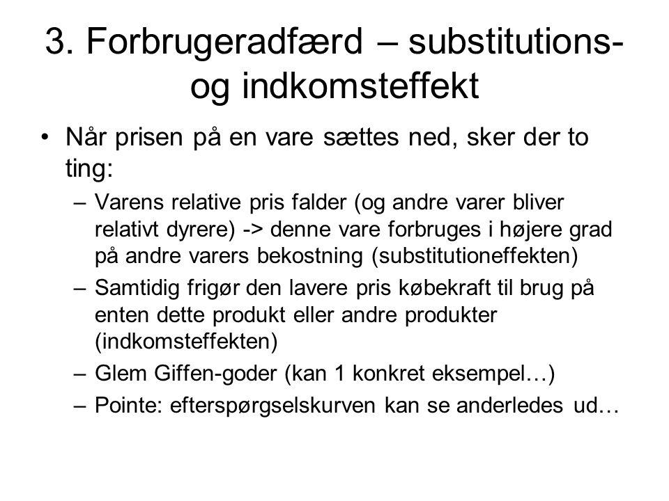 3. Forbrugeradfærd – substitutions- og indkomsteffekt
