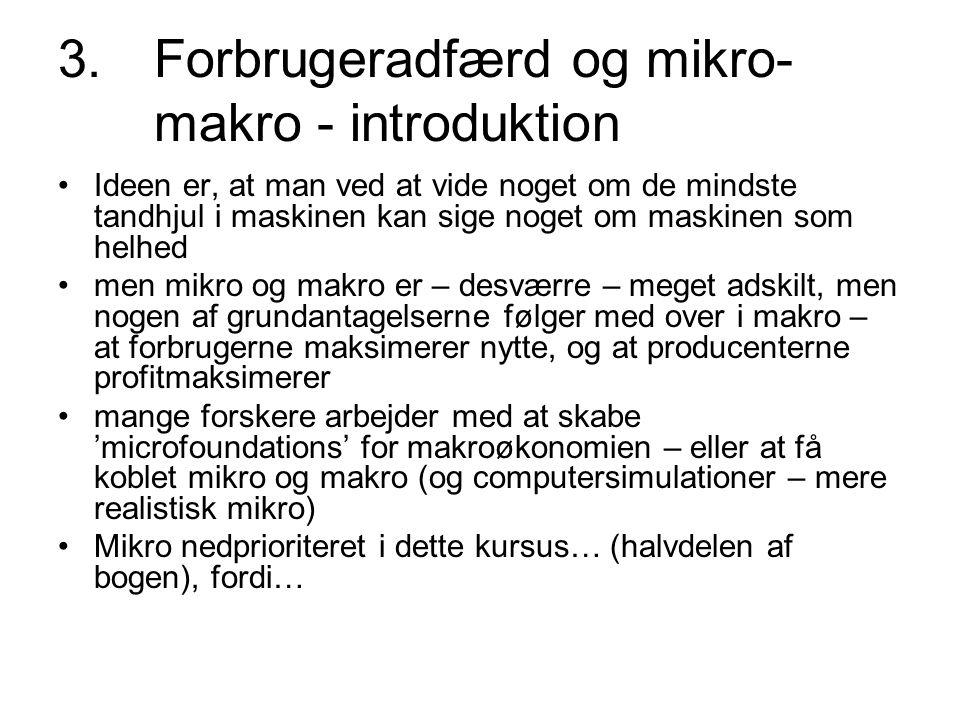 3. Forbrugeradfærd og mikro- makro - introduktion