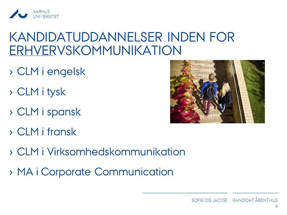 Kandidatuddannelser inden for erhvervskommunikation